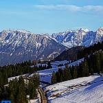 Blick vom Sudelfeld ins Inntal - Wilder Kaiser