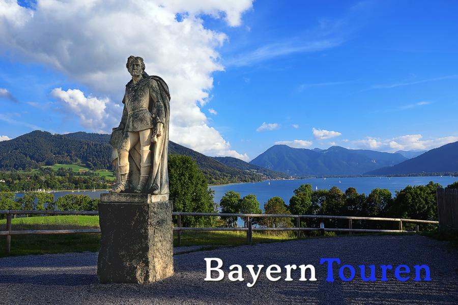 König Ludwig - Statue gut Kaltenbrunn / Tegernsee